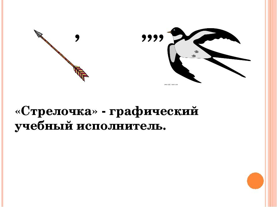 , ,,,, «Стрелочка» - графический учебный исполнитель.