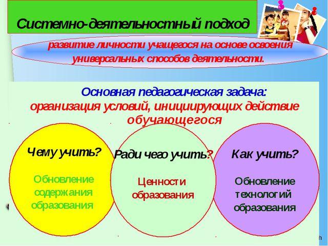 Основная педагогическая задача: организация условий, инициирующих действие о...