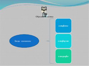 Виды омонимов: