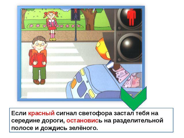 Если красный сигнал светофора застал тебя на середине дороги, остановись на р...