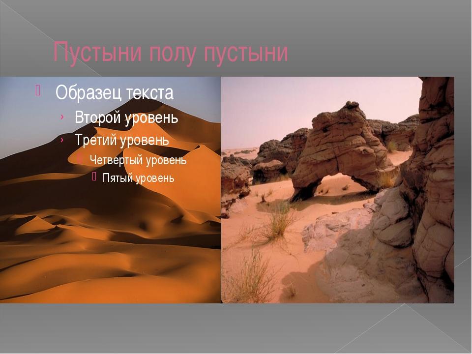 Пустыни полу пустыни