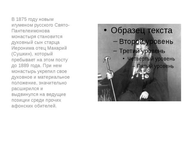 В 1875 году новым игуменом русского Свято-Пантелеимонова монастыря становитс...