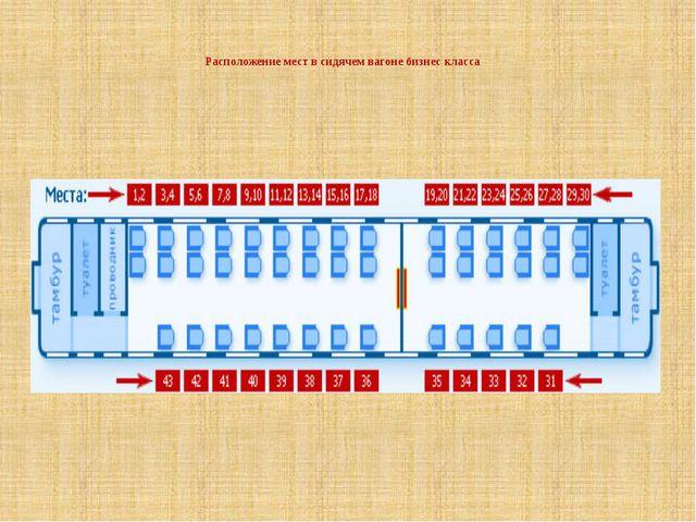 Расположение мест в сидячем вагоне бизнес класса