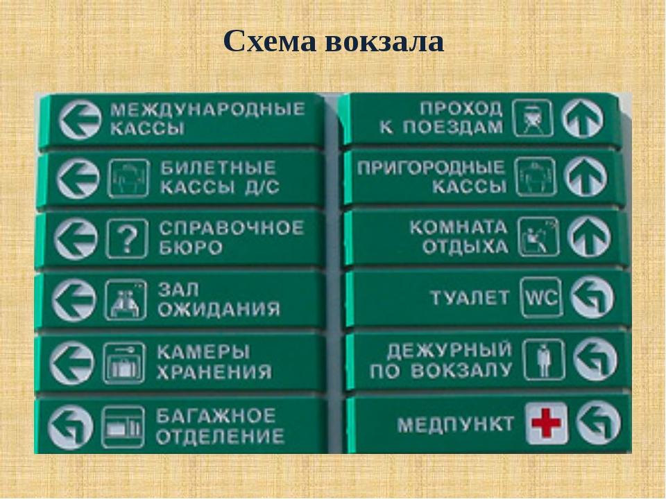 Схема вокзала