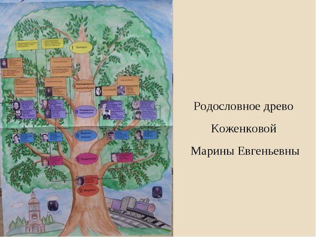 Родословное древо Коженковой Марины Евгеньевны