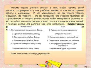 Поэтому задача учителя состоит в том, чтобы научить детей учиться, сформиров