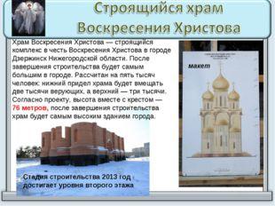Храм Воскресения Христова — строящийся комплекс в честь Воскресения Христова