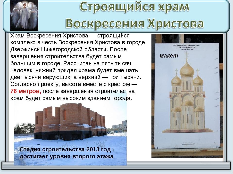 Храм Воскресения Христова — строящийся комплекс в честь Воскресения Христова...