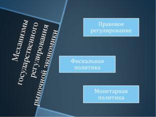 Механизмы государственного регулирования рыночной экономики
