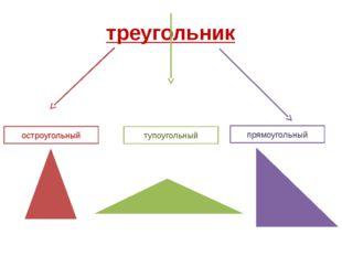треугольник остроугольный тупоугольный прямоугольный