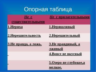 Опорная таблица Нес существительными Нес прилагательными 1.Неряха 1.Неряшли