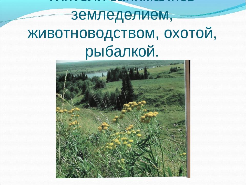 Жители занимались земледелием, животноводством, охотой, рыбалкой.