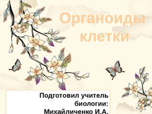 Органоиды клетки Подготовил учитель биологии: Михайличенко И.А.