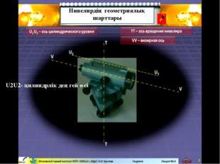 Нивелирдің геометриялық шарттары U2U2- цилиндрлік деңгей өсі