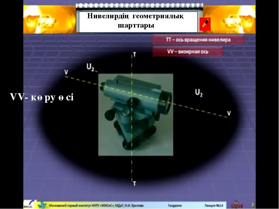 Нивелирдің геометриялық шарттары VV- көру өсі