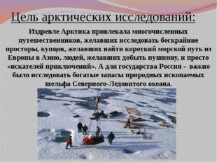 Цель арктических исследований: Издревле Арктика привлекала многочисленных пут