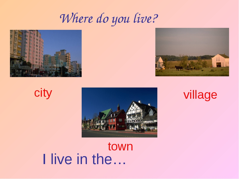 Where do you live? I live in the… city village town