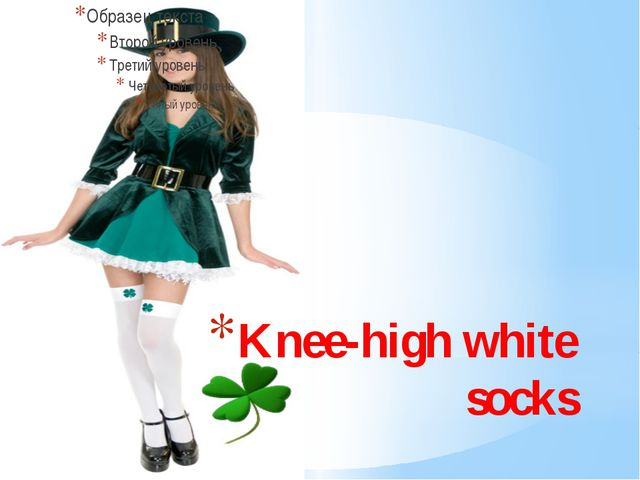 Knee-high white socks