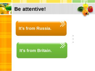 Be attentive! It's from Russia. Click to add Text Click to add Text Click to