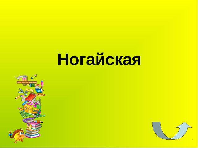 Ногайская