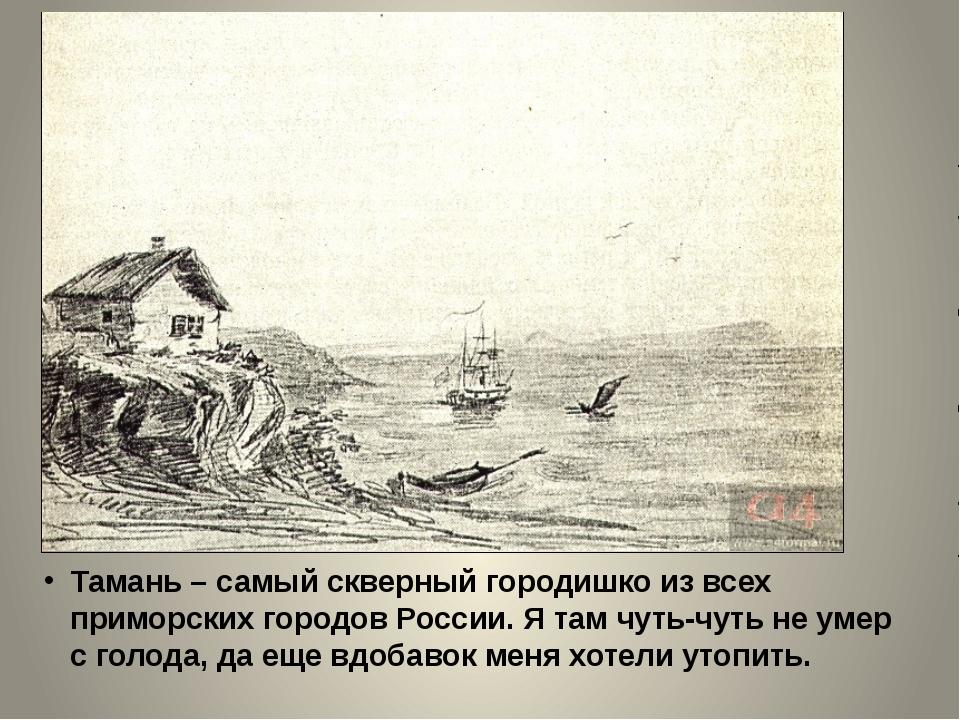 Тамань – самый скверный городишко из всех приморских городов России. Я там чу...