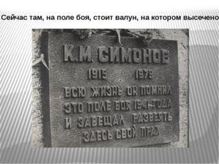 Сейчас там, на поле боя, стоит валун, на котором высечено: Бабичева Л.М., биб