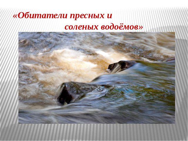 «Обитатели пресных и соленых водоёмов»