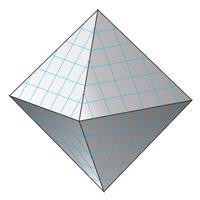площадь поверхности октаэдра