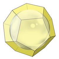 Сфера вписанная в додекаэдр