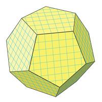 Площадь поверхности додекаэдра