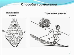 Способы торможения Торможение плугом Торможение упором *