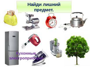 Найди лишний предмет. Кухонные электроприборы