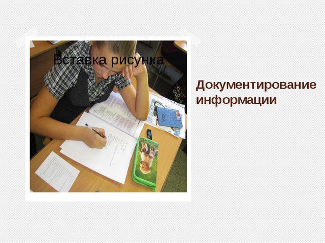 Документирование информации