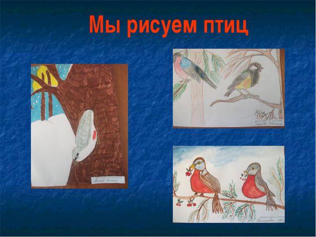 Мы рисуем птиц