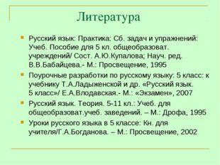 Литература Русский язык: Практика: Сб. задач и упражнений: Учеб. Пособие для