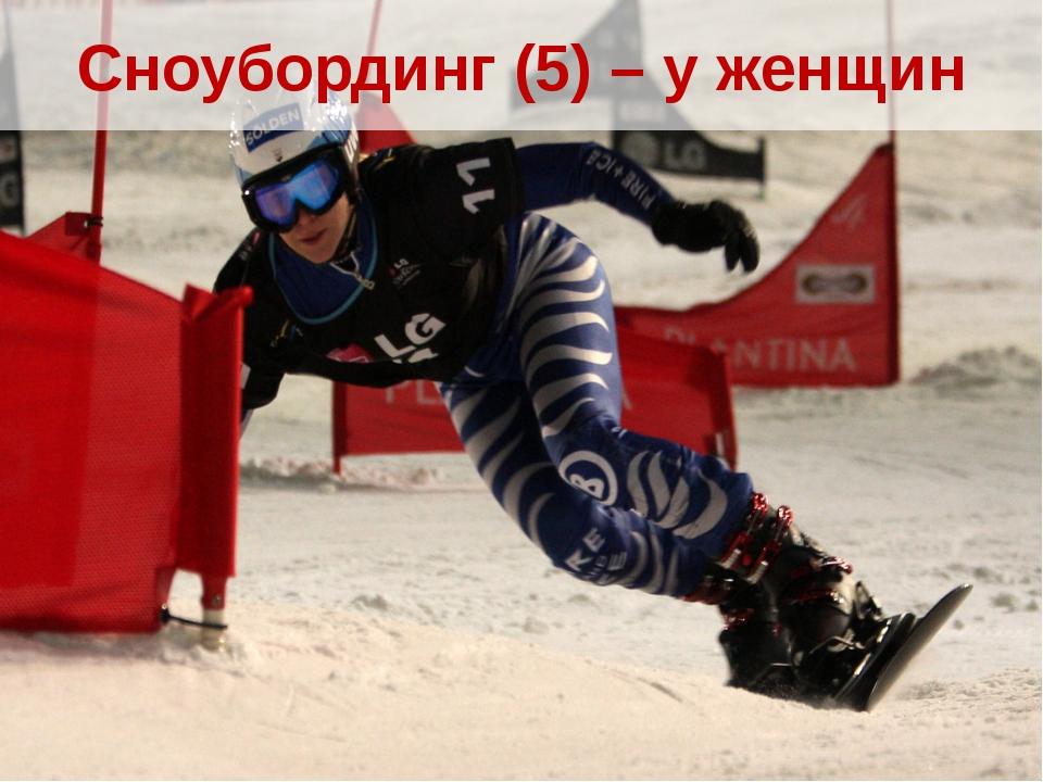 Сноубординг (5) – у женщин