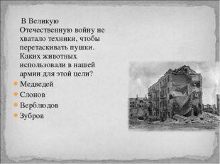 В Великую Отечественную войну не хватало техники, чтобы перетаскивать пушки.