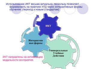 Использование ИКТ весьма актуально, поскольку позволяет формировать на практи