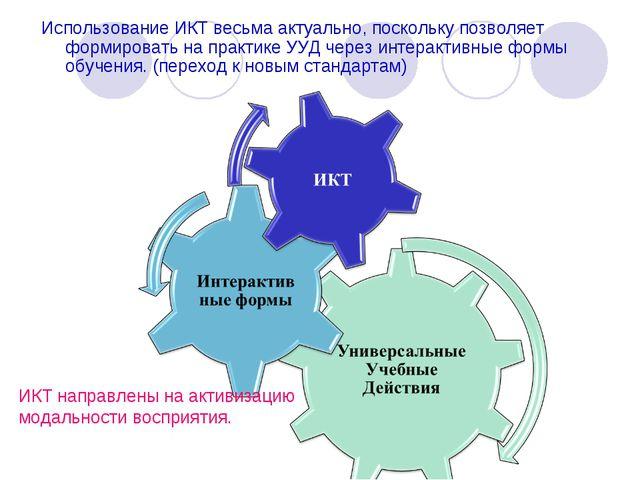 Использование ИКТ весьма актуально, поскольку позволяет формировать на практи...