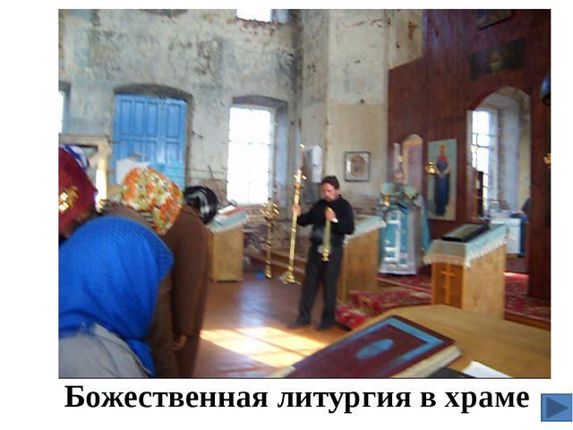 Божественная литургия в храме