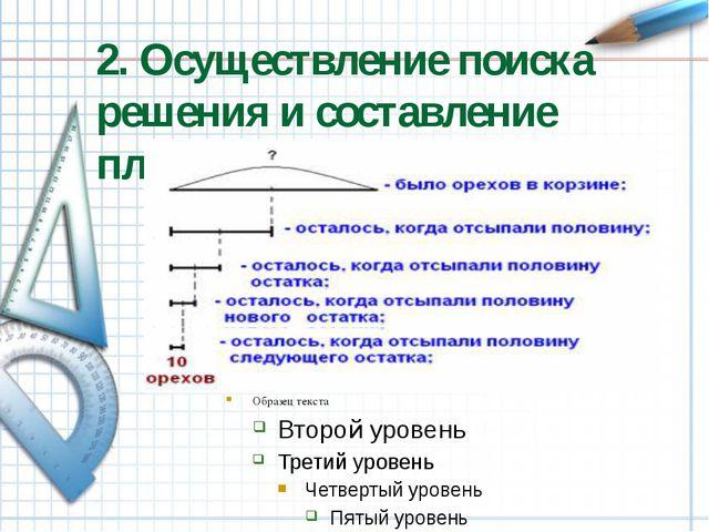 2. Осуществление поиска решения и составление плана решения.