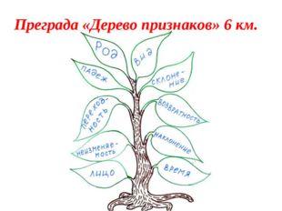 Преграда «Дерево признаков» 6 км.
