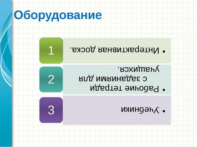 Оборудование Это другой параметр для обзорного слайда.