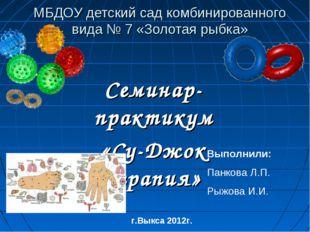 МБДОУ детский сад комбинированного вида № 7 «Золотая рыбка» Семинар-практикум