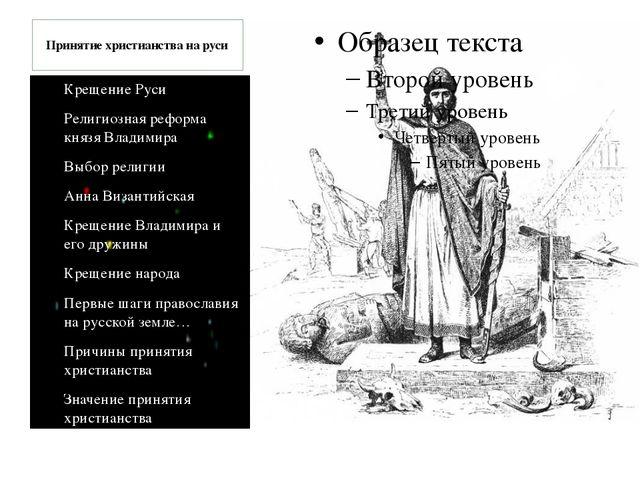 Крещение Руси Религиозная реформа князя Владимира Выбор религии Анна Византий...