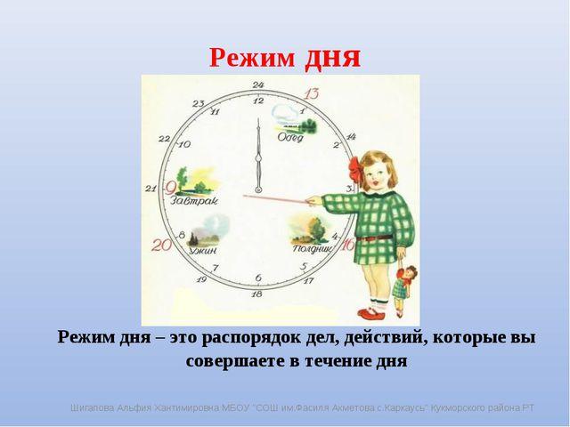 Режим дня Режим дня – это распорядок дел, действий, которые вы совершаете в...