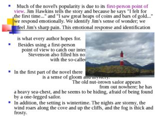 Much of the novel's popularity is due to its first-person point of view. Jim