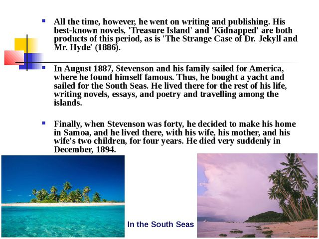 All the time, however, he went on writing and publishing. His best-known nove...
