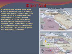 Факт №4 4. Территориальные и людские потери Турции были катастрофическими. В