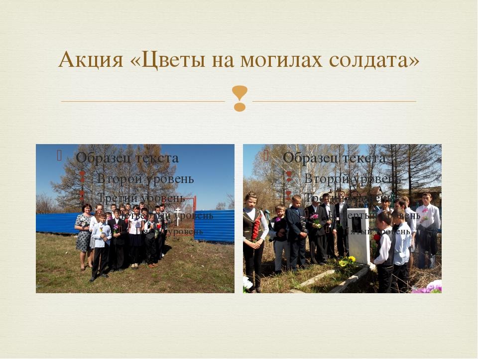 Акция «Цветы на могилах солдата» 